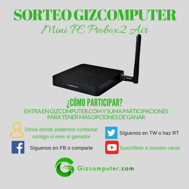 sorteo gizcomputer probox2 air