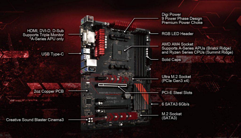 Asrock Fatal1ty AB350 Gaming K4