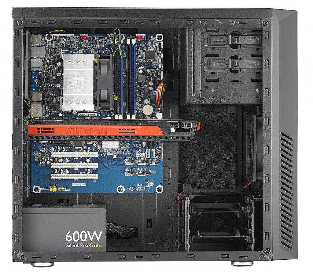 Cooler Master Silencio RC-550, interior