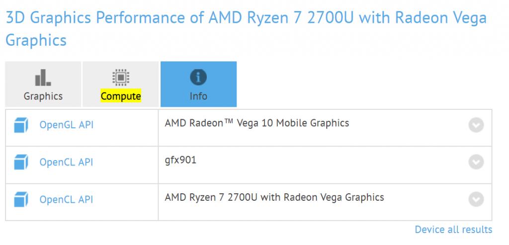 Radeon Vega 8 Mobile y Vega 10 Mobile