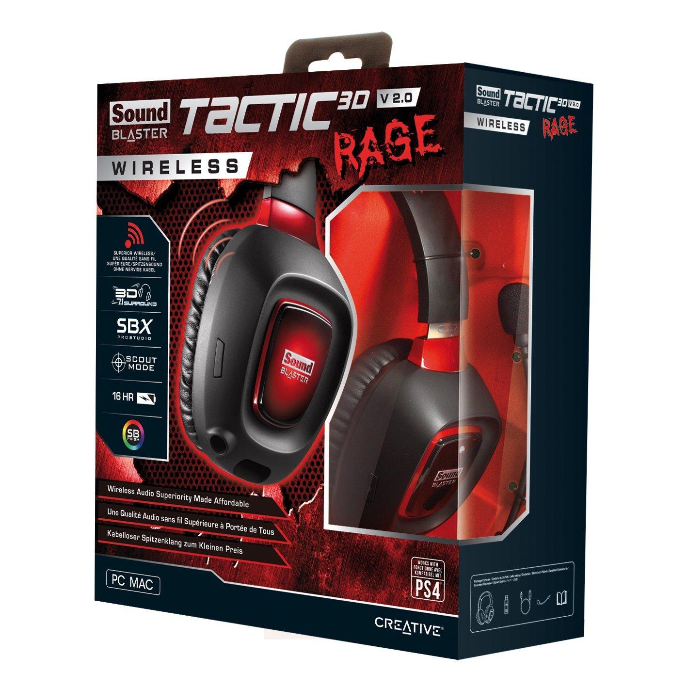 Creative Sound Blaster Tactic3d Rage Wireless v2.0, autonomía