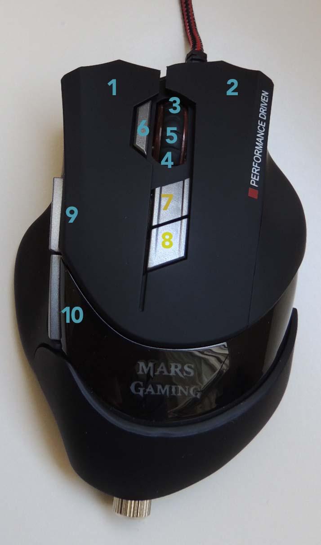 botones mars gaming mm3
