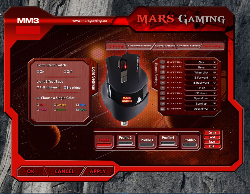 panel configuracion mars gaming mm3