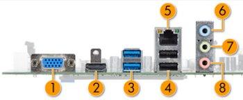 HP 260-P101NS conectores