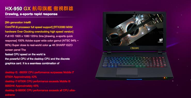 GeForce RTX 2080 Mobility, RTX 2070 Mobility y RTX 2060 Mobility