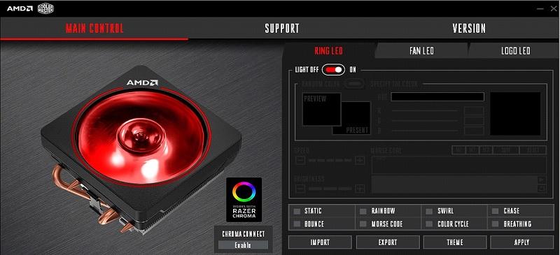 AMD Wraith Prism compatible con Razer Chroma