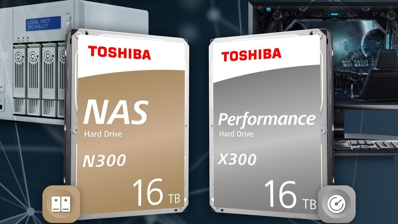 Toshiba N300 y X300, HDD ahora con 16 TB de capacidad