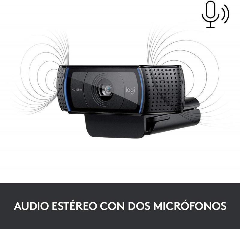 Logitech C920s Pro, audio