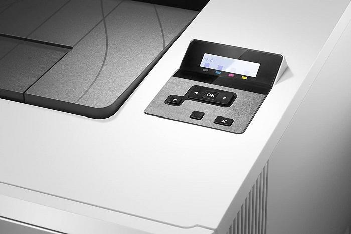 HP Color LaserJet Pro M452dn, panel de control