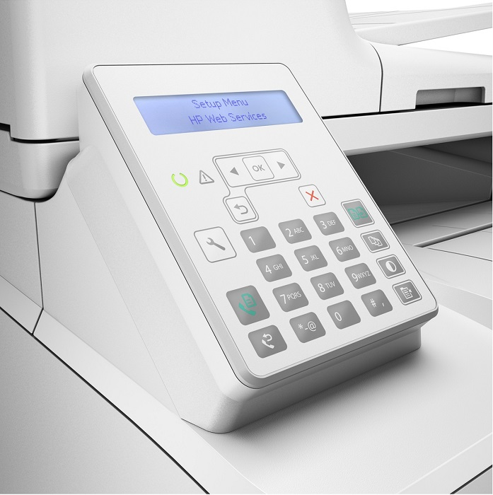 HP LaserJet Pro M227fdn, panel de control