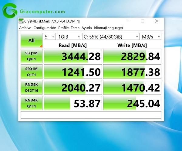 Huawei Matebook X Pro Test Almacenamiento
