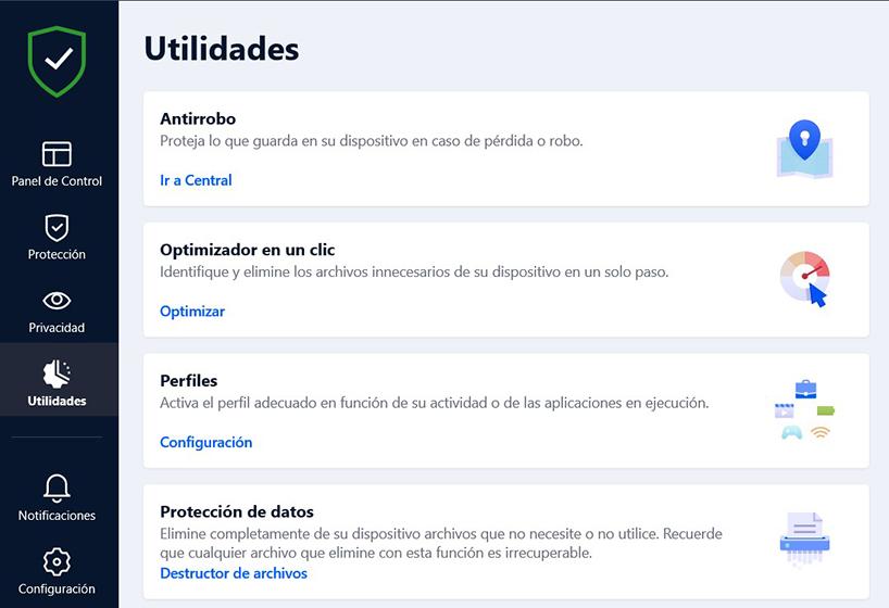 Bitdefender Total Security - Utilidades