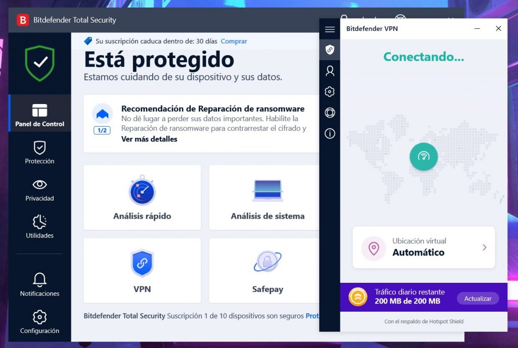 Bitdefender Total Security - VPN