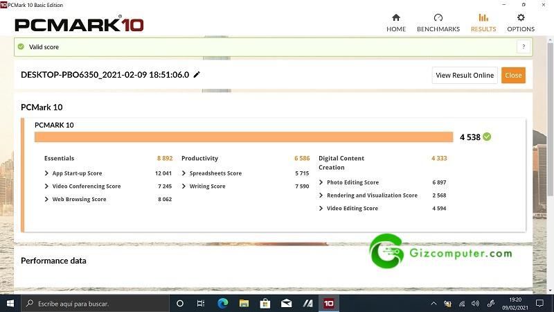 Asus UX371 Test PCMARK10