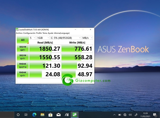 Asus UX371 Test SSD