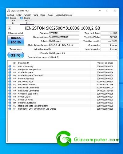Kingston KC2500