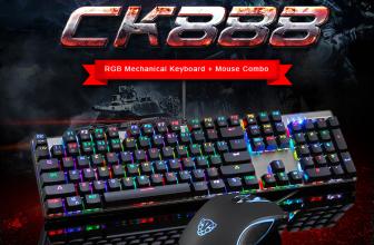 Motospeed CK888, conoce el teclado + ratón con luz RGB ajustable