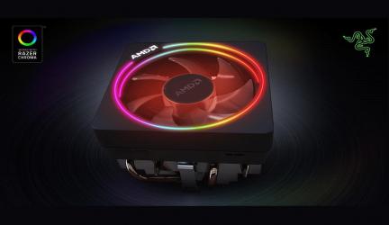 AMD Wraith Prism, el nuevo cooler de Ryzen 3000 con RGB LED y soporte Razer Chroma
