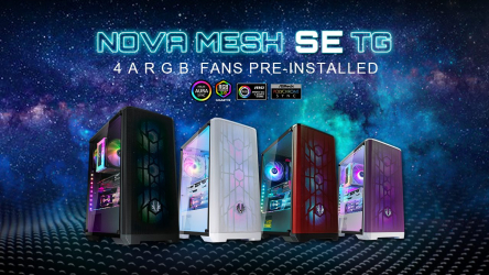 BitFenix Nova Mesh SE TG, chasis gaming con 4 ventiladores ARGB