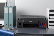 Canon Pixma G2501, impresora con tinta por inyección y cartuchos.
