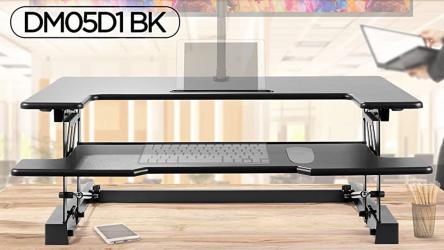 Duronic DM05D1, mesa para trabajar sentado o de pie