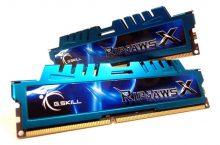 G.Skill Ripjaws X DDR3 1600 PC3-12800, RAM para tu equipos vintage.