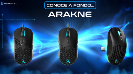 Newskill Arakne, cambia el peso de este ratón gaming