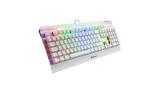 Sharkoon Skiller SGK3 White, teclado gaming mecánico para setup blanco